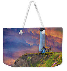 Lighthouse At Pigeon Point Weekender Tote Bag