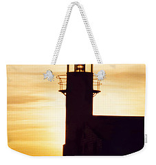 Lighthouse At Sunset Weekender Tote Bag