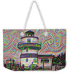 Lighthouse Ice Cream Shop - Wildwood Crest Weekender Tote Bag by Bill Cannon