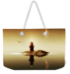 Lighthouse In A Calm Sea Weekender Tote Bag
