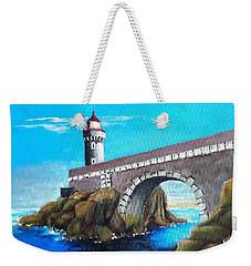 Lighthouse In Brest, France Weekender Tote Bag by Jim Phillips