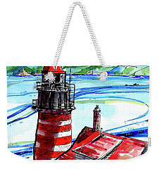 Lighthouse In Maine Weekender Tote Bag