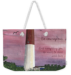Lighthouse Inspirational Weekender Tote Bag