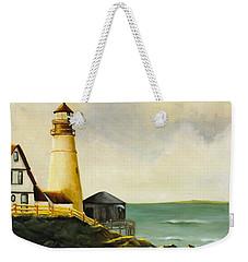 Lighthouse In Oil Weekender Tote Bag