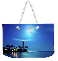 Lighthouse Moon Weekender Tote Bag