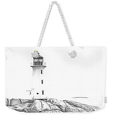 Lighthouse Of Peggy's Cove Weekender Tote Bag by Patricia Hiltz