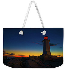 Lighthouse Sunset Weekender Tote Bag