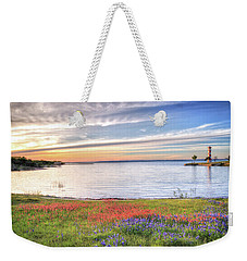 Lighthouse Sunset At Lake Buchanan Weekender Tote Bag