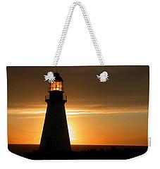 Lighthouse Sunset Weekender Tote Bag