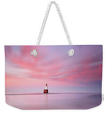 Weekender Tote Bag featuring the photograph Lighthouse Sunset by Grant Glendinning