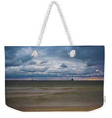Lighthouse Under Brewing Clouds Weekender Tote Bag