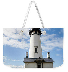 Weekender Tote Bag featuring the photograph Lighthouse View by Mary Jo Allen
