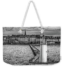 Weekender Tote Bag featuring the photograph Lighthouse Walkway by Elf Evans