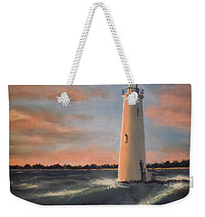 Lighthouse Waves Weekender Tote Bag