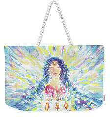 Lighting Shabbot Candles Weekender Tote Bag