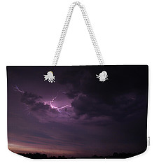 Weekender Tote Bag featuring the photograph Lightning At Sunset by Mark Dodd
