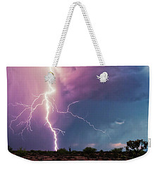 Weekender Tote Bag featuring the photograph Lightning Dancer by Rick Furmanek