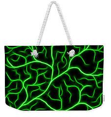 Weekender Tote Bag featuring the digital art Lightning - Green by Shane Bechler