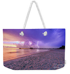 Lightning Naples Pier Weekender Tote Bag