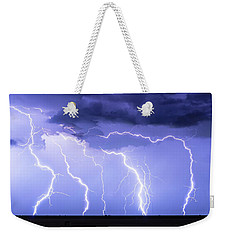 Lightning On The Plains Weekender Tote Bag