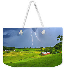 Lightning Storm Over Jenne Farm Weekender Tote Bag