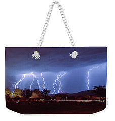 Lightning Over Laveen Weekender Tote Bag