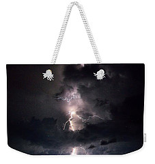 Lightning Weekender Tote Bag by Richard Zentner