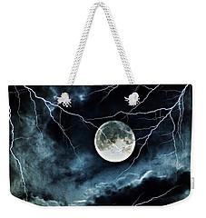 Lightning Sky At Full Moon Weekender Tote Bag