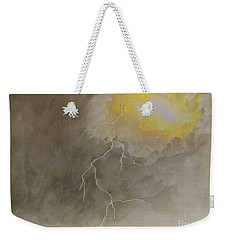 Weekender Tote Bag featuring the painting Lightning by Stacy C Bottoms
