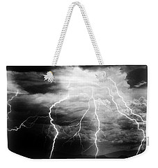 Lightning Storm Over The Plains Weekender Tote Bag by Joseph Frank Baraba