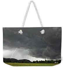 Lightning Strike On Tyringham Plain Weekender Tote Bag