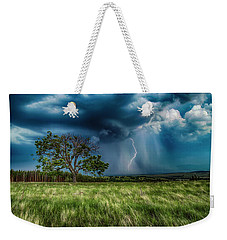 Lightning Strike Weekender Tote Bag
