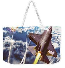 Lightning Strikes Weekender Tote Bag