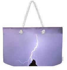 Lightning Striking Pinnacle Peak Scottsdale Az Weekender Tote Bag