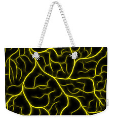 Weekender Tote Bag featuring the photograph Lightning - Yellow by Shane Bechler