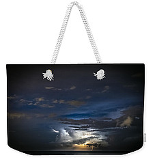 Weekender Tote Bag featuring the photograph Lightning's Water Dance by Steven Santamour
