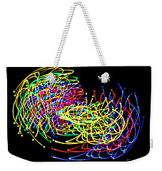 Weekender Tote Bag featuring the photograph Lights Fantastic by Diane E Berry