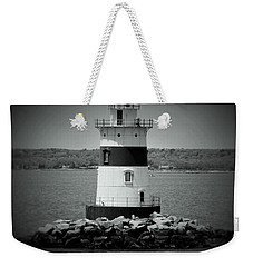 Lights Out-bw Weekender Tote Bag