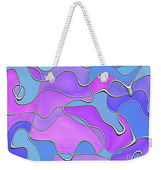 Weekender Tote Bag featuring the digital art Lignes En Folie - 02a by Variance Collections