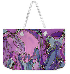 Weekender Tote Bag featuring the digital art Lignes En Folie - 13a by Variance Collections