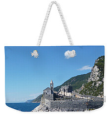 Liguria In Blue Weekender Tote Bag