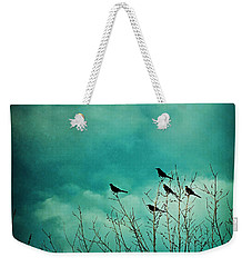 Weekender Tote Bag featuring the photograph Like Birds On Trees by Trish Mistric