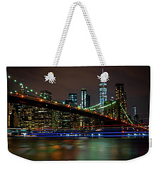 Weekender Tote Bag featuring the photograph Like Ships In The Night by Chris Lord