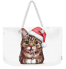 Cat Santa Christmas Animal Weekender Tote Bag