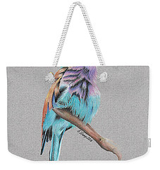 Lilac Breasted Roller Weekender Tote Bag