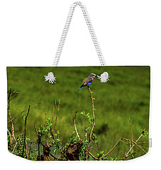 Lilac-breasted Roller On Bush Weekender Tote Bag