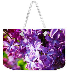 Lilac In The Sun Weekender Tote Bag by Julia Wilcox