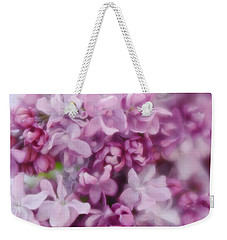 Weekender Tote Bag featuring the photograph Lilac - Lavender by Diane Alexander
