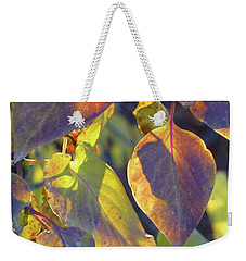Lilac Leaves Weekender Tote Bag