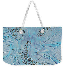 Weekender Tote Bag featuring the mixed media Lilac Sunstones by Angela Stout